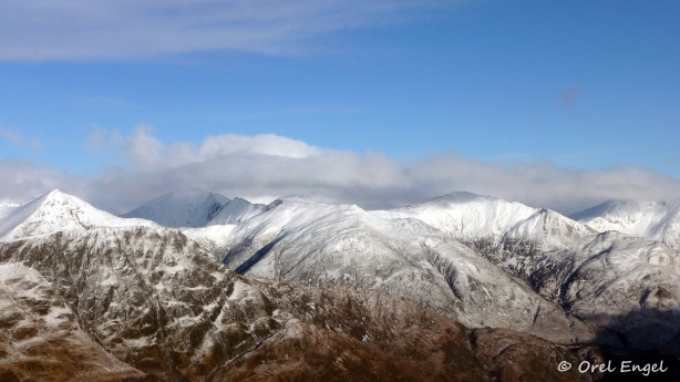 Ben Nevis and the Mamore mountains in the distance