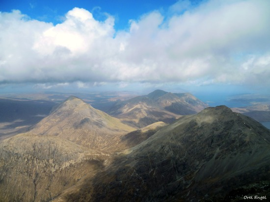 Ruadh Stac from the top of Bla Bheinn.